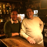 Left, Landlord of the Royal Oak Wineham Mike Bailey and Tim.