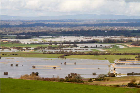 The Adur River from the Downs. 10th Feb 2014 (Photo: Kathy Horniblow)