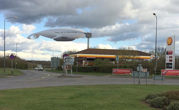 airship caption