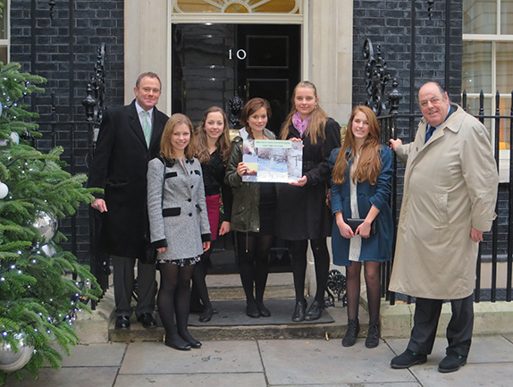 Five Mid Sussex teenagers have taken the campaign against Mayfield Market Towns to Downing Street.