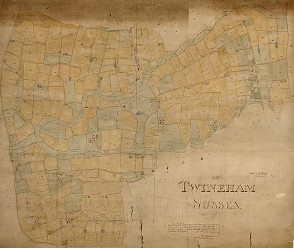 Twineham tythe map